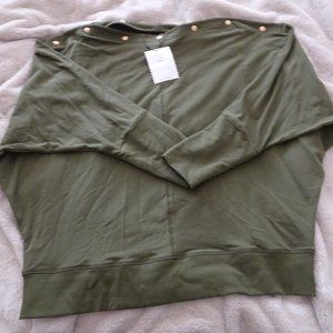 Stella & Dot 'the weekend' slouchy top - olive